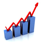 Blue Bar Chart Shows Budget Versus Actual